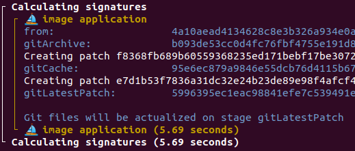 git files actualized on specific stage